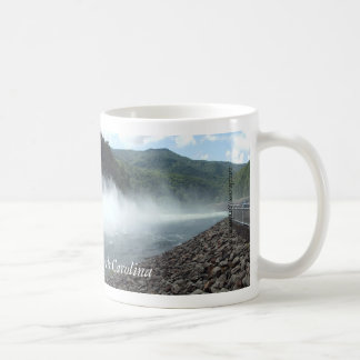 Fontana Dam, North Carolina spilling water mug