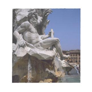 Fontana dei Quattro Fiumi, Piazza Navona, Rome, Notepad