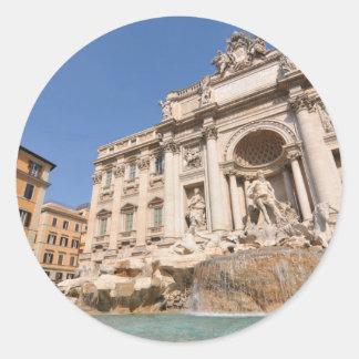 Fontana di Trevi in Rome, Italy Classic Round Sticker