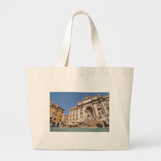 Fontana di Trevi in Rome, Italy Large Tote Bag