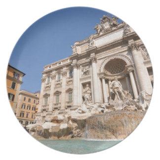 Fontana di Trevi in Rome, Italy Plates