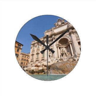 Fontana di Trevi in Rome, Italy Wallclocks