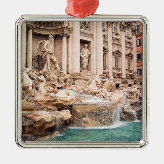 Fontana di Trevi, Rome Silver-Colored Square Ornament