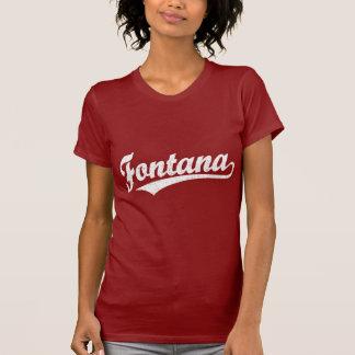 Fontana script logo in white T-Shirt