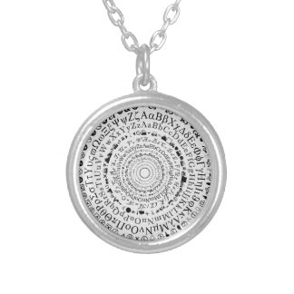 Fontastic Wheel Silver Plated Necklace