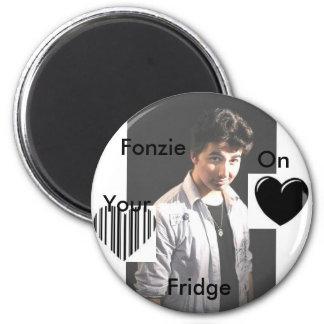 FONZIE2, heart, ggg, Fonzie, On , Your, Fridge Magnet