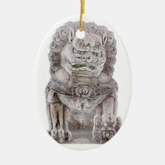Foo Dog Ceramic Ornament