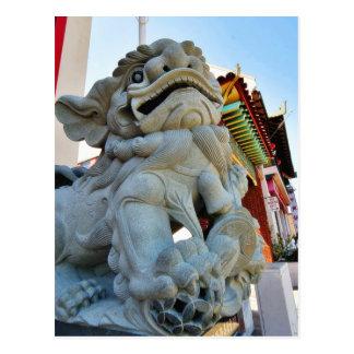 Foo Dog In Chinatown In Los Angeles Postcard