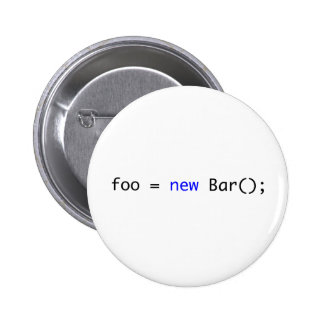 foo = new Bar(); 2 Inch Round Button