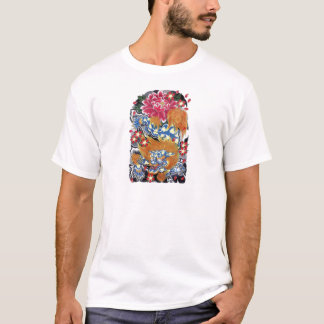 Foo & Sakura Japanese Tattoo Design T-Shirt