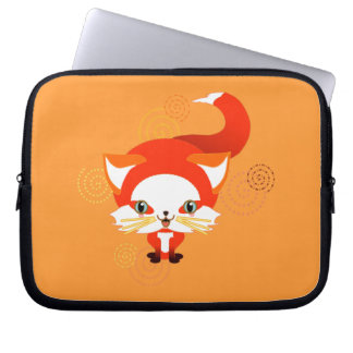 Foo the fox laptop computer sleeves