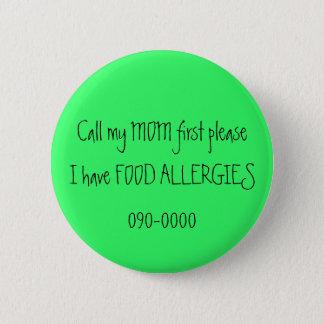 FOOD ALLERGIES button