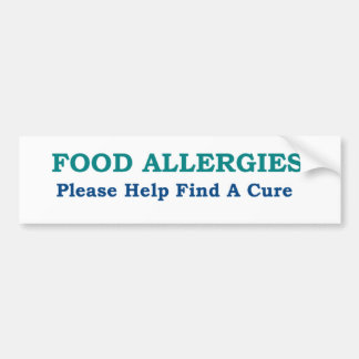 Food Allergies Find A Cure Bumper Sticker