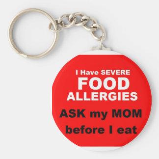 Food Allergies Keychain