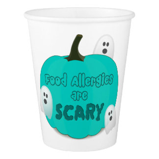 Food Allergies Teal Pumpkin Halloween Party Cups
