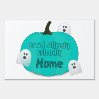Food Allergies Teal Pumpkin Halloween Yard Sign
