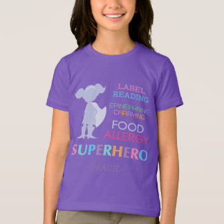 Food Allergy Alert Superhero Girls Shirt