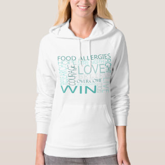Food Allergy Awareness Square Words Hoodie