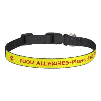 Food Allergy Medical Alert-Yellow Dog Collars