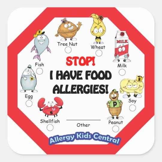 Food Allergy Sticker