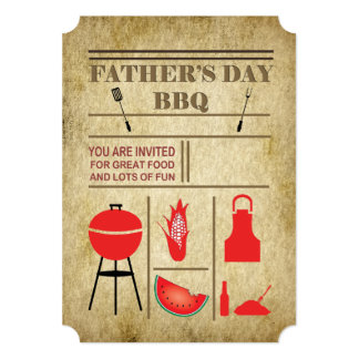Food And Fun Father's Day Party Invitations