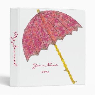 Food Art Pink Umbrella 3 Ring Binder