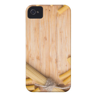 Food background with thin spaghetti and pasta Case-Mate iPhone 4 cases