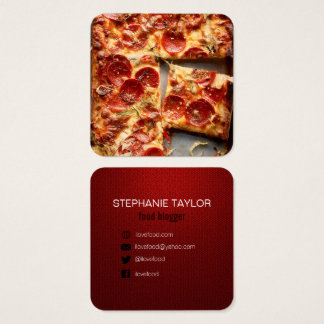 food blogger business card