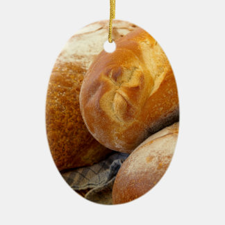 Food - Bread - Just loafing around Ceramic Ornament