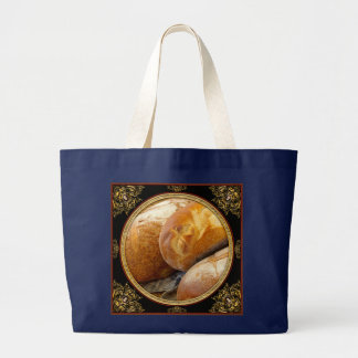 Food - Bread - Just loafing around Large Tote Bag