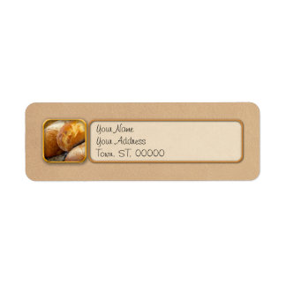 Food - Bread - Just loafing around Return Address Label