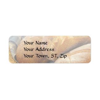 Food - Bread - Just loafing around Return Address Label