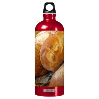 Food - Bread - Just loafing around Water Bottle