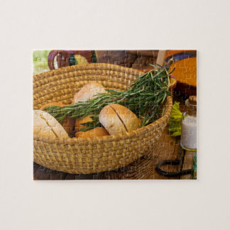 Food - Bread - Rolls and Rosemary Jigsaw Puzzle