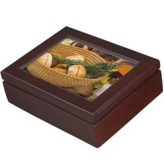 Food - Bread - Rolls and Rosemary Keepsake Box
