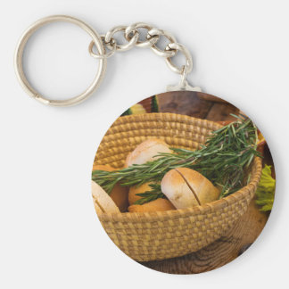 Food - Bread - Rolls and Rosemary Keychain