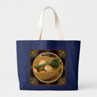 Food - Bread - Rolls and Rosemary Large Tote Bag