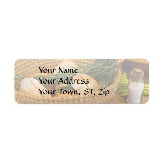Food - Bread - Rolls and Rosemary Return Address Label