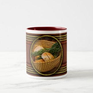 Food - Bread - Rolls and Rosemary Two-Tone Coffee Mug