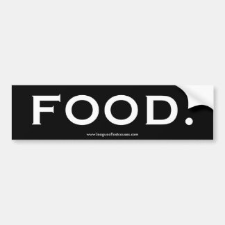 """Food"" bumper sticker"