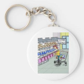 Food Cartoon 9374 Basic Round Button Keychain