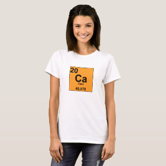 Food Chemistry Periodic Table: Cake/Calcium T-Shirt