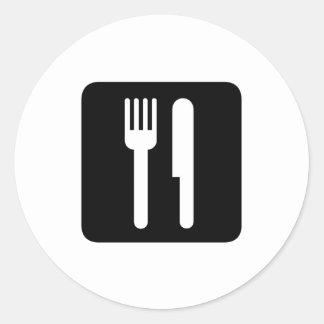 food classic round sticker