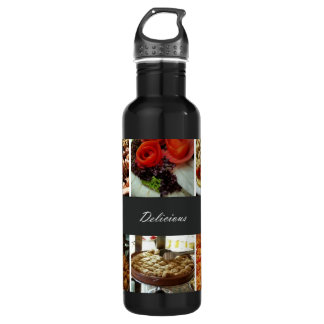 Food Collage 710 Ml Water Bottle