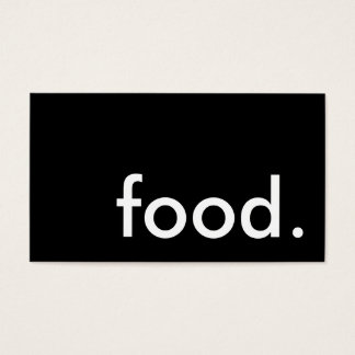 food. (color customizable) business card