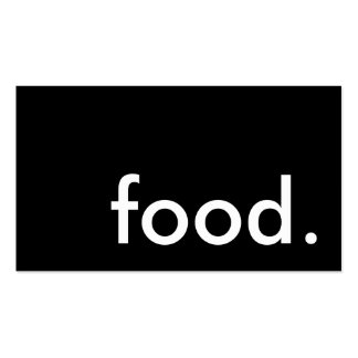 food. (color customizable) pack of standard business cards