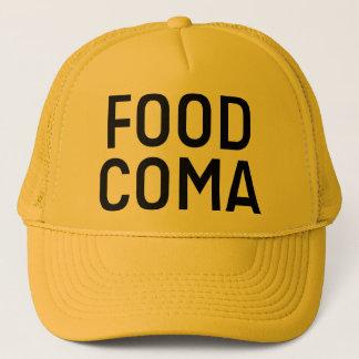FOOD COMA slogan trucker hat