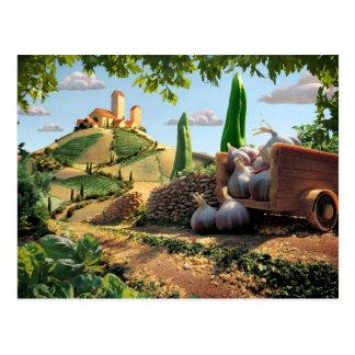 Food Country Scene Postcard
