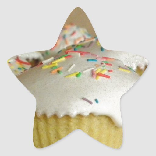 Food Desserts Sweets Cake Candy Sprinkles Colorful Star Sticker