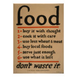 Food - Dont waste It  , 1917 From Our Collection Poster
